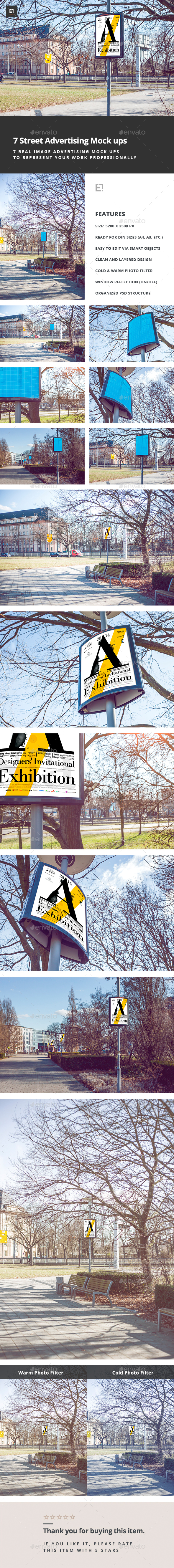 Urban Advertising Flyer Poster Mock-Up