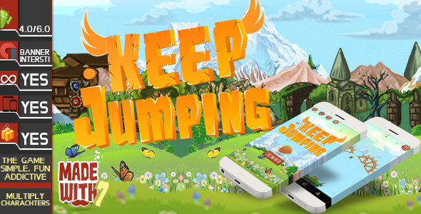 Preserve Jumping Game Template | Admob (Banner + Interstitial ) +in game acquire (Games)
