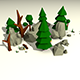 Low Poly Rocks and Trees Pack