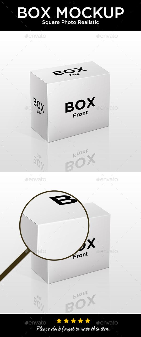 Box Mockup - Photo Realistic Quality