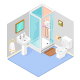 Vector Isometric Bathroom