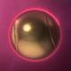 3D Golden Tennis Ball