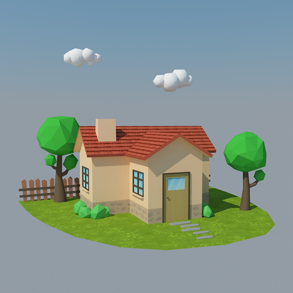 Low Poly House 4 - 3DOcean Item for Sale