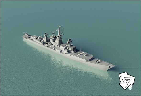 Rocket_cruiser_HiPoly_render_setup - 3DOcean Item for Sale