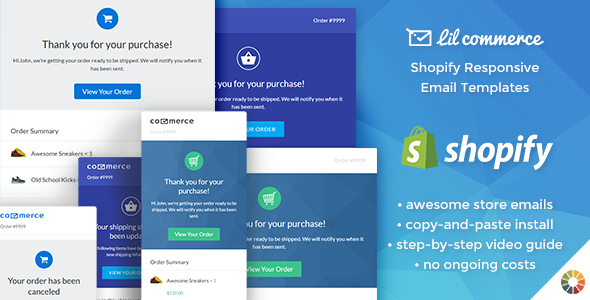 Lil Commerce - Shopify Responsive Email Templates