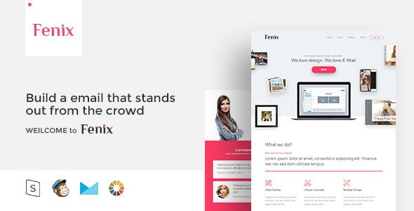 Fenix - Responsive Email Template Minimal