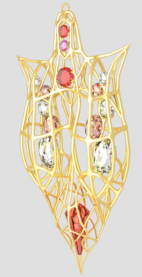 Necklace pendant - 3DOcean Item for Sale