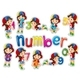 Sticker Set with Girl and Numbers