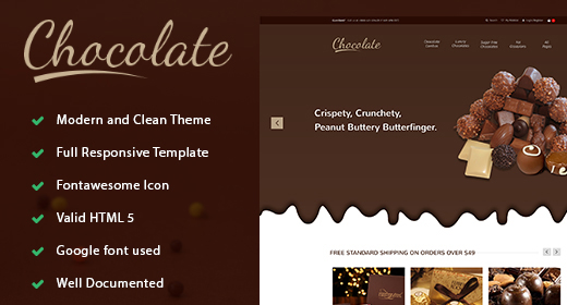 Chocolate - E-commerce Sweets & Cupcakes Bootstrap Template