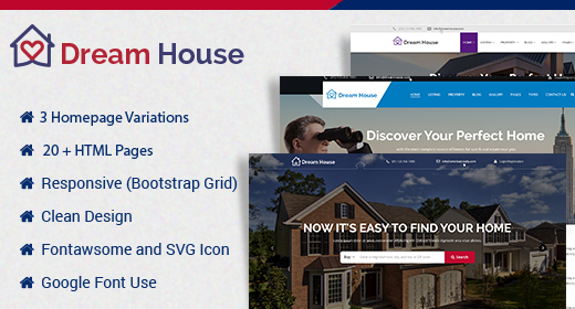 Dream House - Real Estate HTML Template