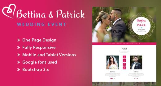 Wedding Invitation Responsive HTML Template