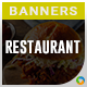 HTML5 Restaurant Banners - GWD - 7 Sizes(Elite-CC-128)