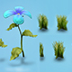 Low poly models of flowers and herbs