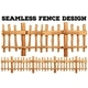 Seamless Classic Wooden Fence Design