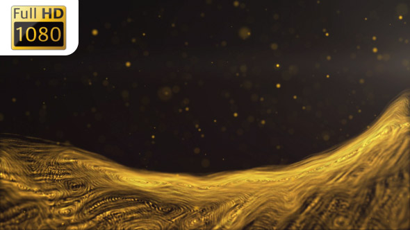 VideoHive Abstract Gold Strings Wave 19576802