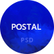 Postal Creative Portfolio Psd Template