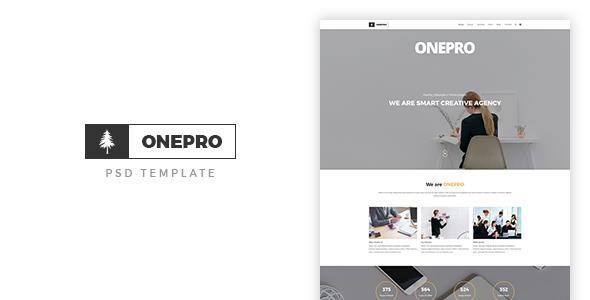 ONEPRO - Creative OnePage PSD Template
