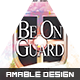 Be On Guard Church Flyer