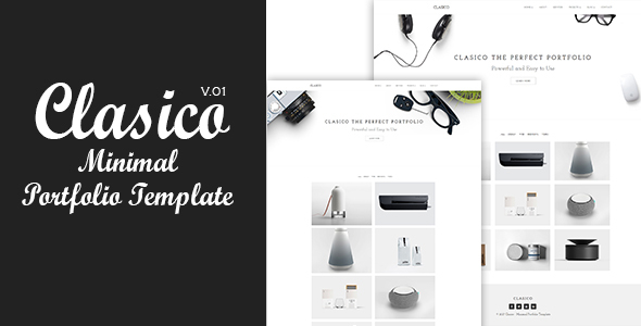 Clasico - Minimal Portfolio Template