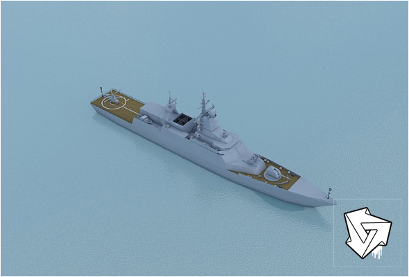 Rocket boat_HiPoly_render_setup - 3DOcean Item for Sale