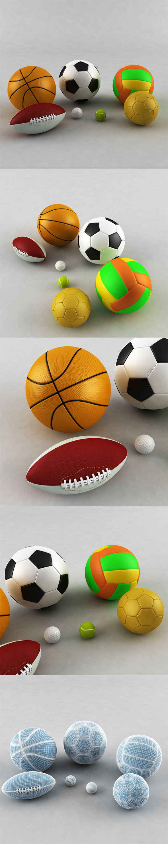 Sports Ball Collection - 3DOcean Item for Sale