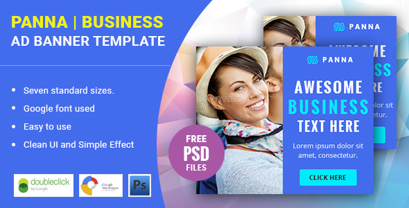 Panna | Business HTML 5 Animated Google Banner