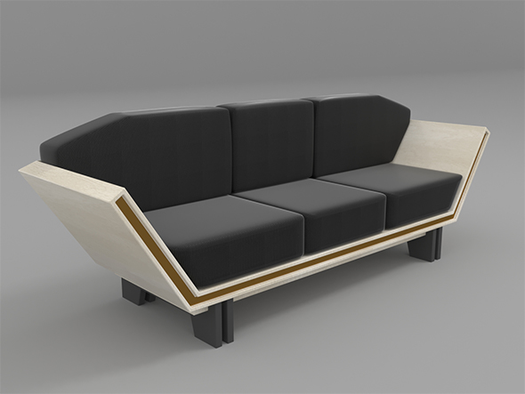 Modern sofa design - 3DOcean Item for Sale