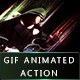 GIF Animated / Static Abstract Glow Photoshop Action