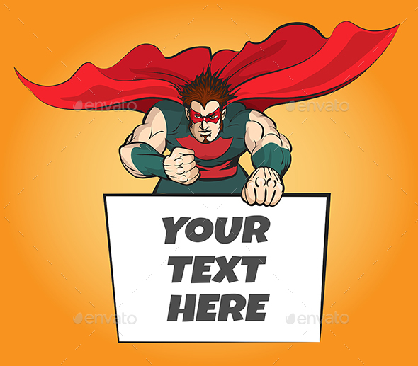 Superhero with Message Board