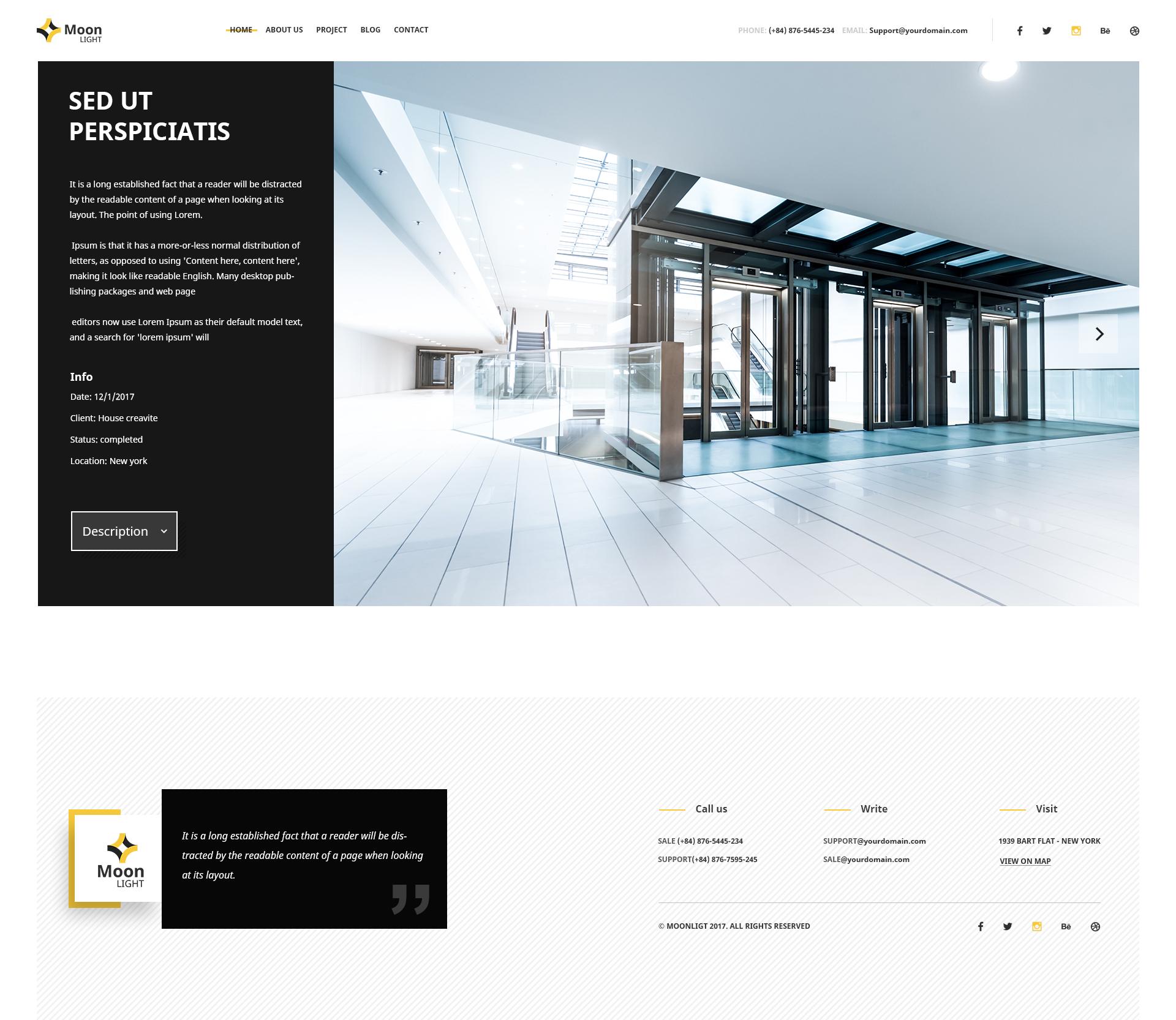 Moonlight Architecture Decor Interior Design Psd