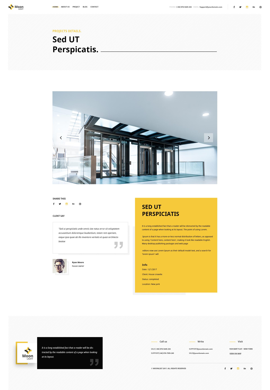 Moonlight Architecture Decor Interior Design Psd Template By 1protheme