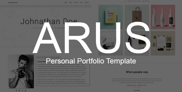 ARUS - Personal Portfolio Template