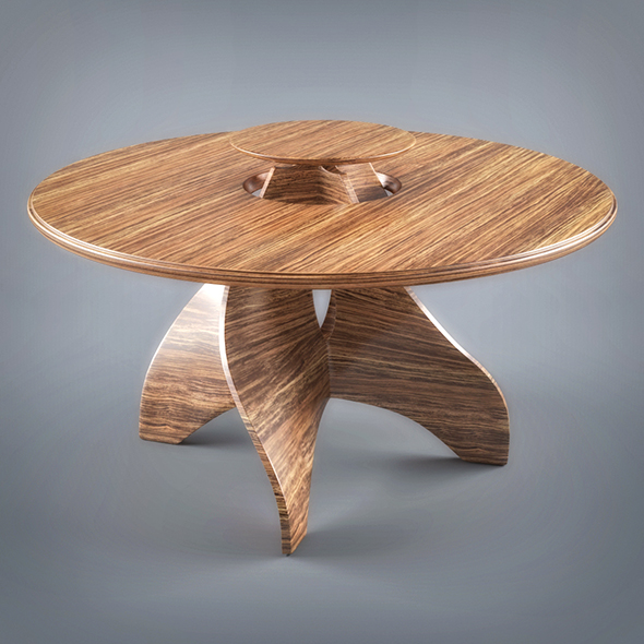 Wooden Table - 3DOcean Item for Sale