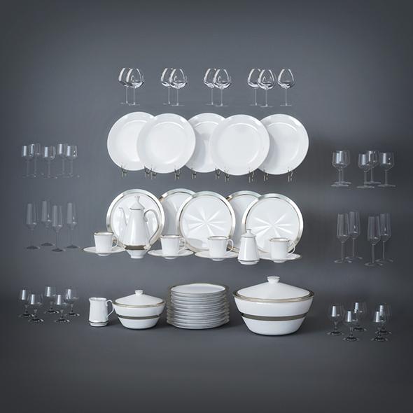 3DOcean Dinner Set 19580958