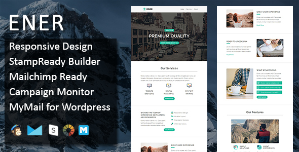 Ener - Multipurpose Responsive Email Template - Stamp Ready Builder Access