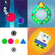 4 Amazing BuildBox Game Templates (Bundle 4): iOS; Easy Reskin; AdMob Ads & IAP