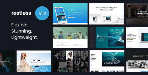 Restless – Beautiful &amp Versatile Multi-goal HTML Template (Portfolio)