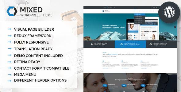 Mixed - Modern and Professional WordPress Theme