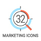 32 Modern Marketing Icons