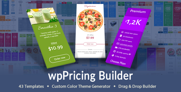 wpPricing Builder - WordPress Responsive Pricing Tables - CodeCanyon Item for Sale
