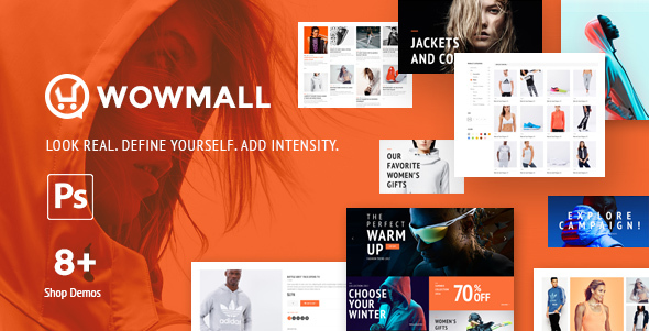 WowMall Online Store PSD template