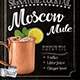 Moscow Mule Cocktail Flyer Template