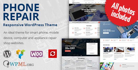 Фото Премиум шаблон Wordpress  Phone Repair - Mobile, Cell Phone and Computer Repair WordPress Theme — 01 preview3.  large preview