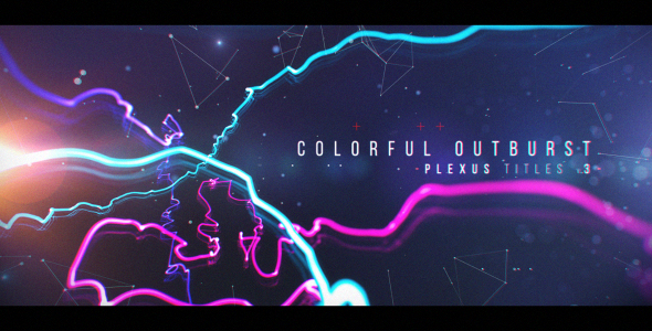 Videohive - Plexus Titles 3 (Colorful Outburst) 19581783 - Free Download