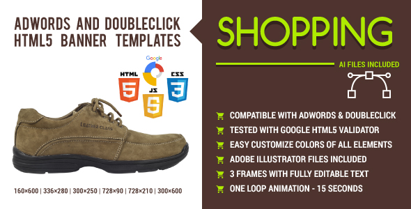Shopping - AdWords and DoubleClick HTML5 Banner Templates