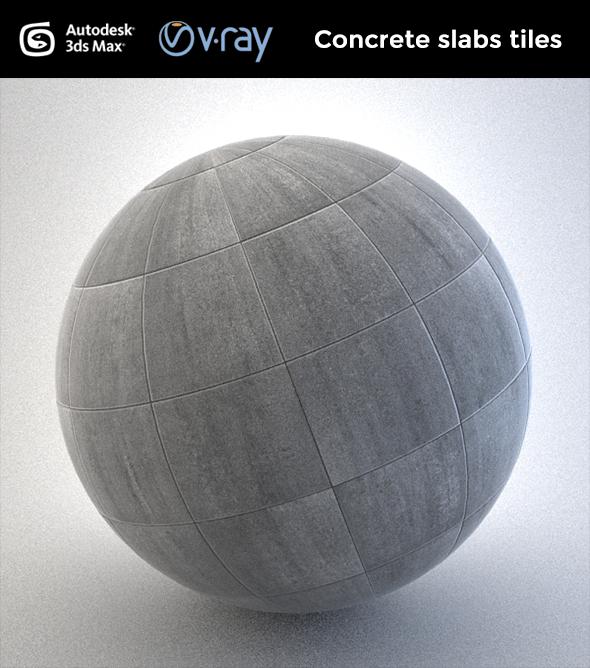 Concrete Slab Tiles - 3DOcean Item for Sale