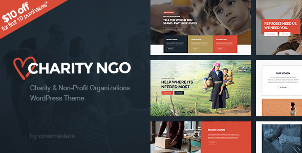 Charity NGO – Donation &amp Nonprofit NGO Charity WordPress Theme (Charity)