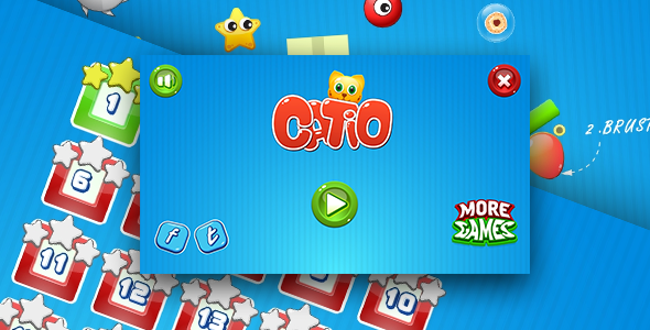 Download Catio - HTML5 logic game. Construct 2 (.capx) + mobile