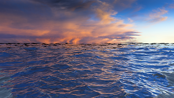 VideoHive Ocean with Dramatic Sunset 19582865