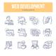 Web Development Doodle Icons